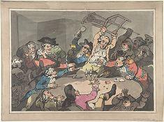 A Kick Up at a Hazard Table – Thomas Rowlandson