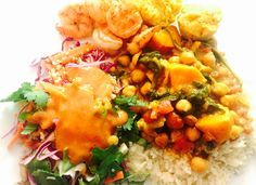 Another welcome feast courtesy of Nona May Magic Wednesday, this week a notably filling and delicious meal complete with zesty Thai-inspired quinoa salad in a stellar dressing with just the … Chickpea Curry, Quinoa Salad, Chana Masala, Yummy Food, Meals, Ethnic Recipes, Blog, Delicious Food, Meal