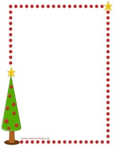 xmas tree border - Christmas Borders Free