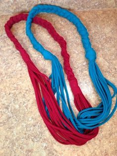 Texas to Ethiopia: DIY No-Sew Braided T-Shirt Scarves. Great for homemade gifts! Super easy and cute.