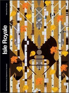 Isle Royale National Park poster by Charley Harper