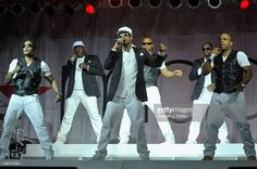Ricky Bell, Bobby Brown, Ralph Tresvant, Ronnie DeVoe, Johnny Gill,and Michael Bivins of New Edition performs during day 2 of the Macy's Music Festival at Paul Brown Stadium on July 26, 2014 in Cincinnati, Ohio.  (Photo by Stephen J. Cohen/Getty Images)