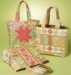 Whistlepig Creek QUILTED BAG Sewing Pattern ~ 3 Bags #patterns4you ~ SOLD!