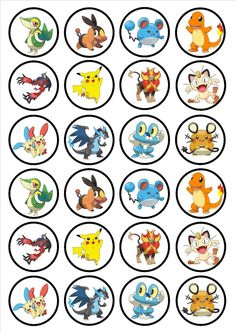 Pokemon Edible Cupcake Topper