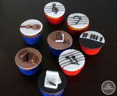 Cupcake thème : musique et écriture