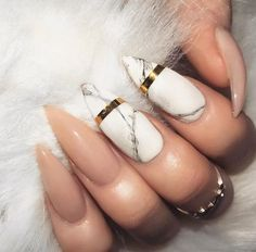 Elegant Marble and Nude Nails | 50+ Marble Ideas You'll Fall In Love With (Home Decor,Wardrobe,Outfits,Makeup,Nails,Photography,Fashion...) – Lupsona