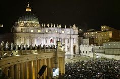 Thousands of faithful have gathered in St Peter's Square