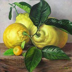 Famous Still Life Paintings, Still Life Oil Painting, Garden Tiles, Lemon Art, Fruit Photography, Fruit Art, Small Art, Food Illustrations, Botanical Art