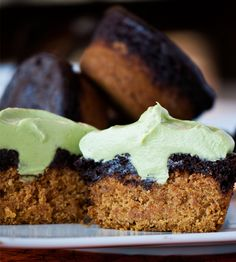 Chocolate pumpkin cupcakes with with avocado banana frosting | Community Post: 25 Deliciously Healthy Cupcake Recipes