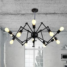 vintage Loft style pendant lights nordic retro restaurant dining room spider lamp lampe deco Industrial light fixture lamp porch idea ** AliExpress Affiliate's Pin. Check out this great product.