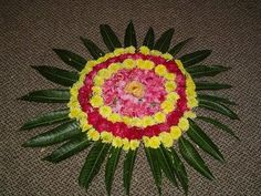 New year SMS 140 words: Flower Rangoli Designs