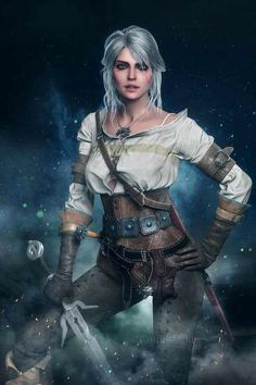 Ciri - The Witcher 3 Wild Hunt The Witcher 3, The Witcher Wild Hunt, Witcher 3 Art, Ciri Witcher, Fantasy Characters, Female Characters, Witcher 3 Characters, Fantasy Women, Fantasy Art