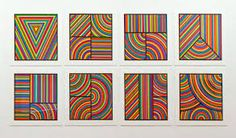 sol lewitt oeuvres? COLOR BANDS