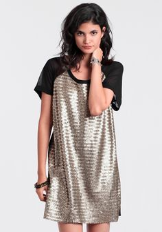 Serpentine Sequins Dress By Gentle Fawn at #threadsence @threadsence