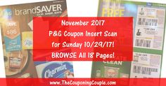 ***NOVEMBER 2017 P&G COUPON INSERT SCAN ~ LOOK AT THE ACTUAL INSERT*** Want to see the exact coupons we are expecting in the NOVEMBER P&G Insert expected on 10/297/17? Click the Picture below to BROWSE through all 18 pages and look at the coupons ► http://www.thecouponingcouple.com/november-2017-pg-insert-scan-expected-on-sunday-102917/  #Coupons #Couponing #CouponCommunity  Visit us at http://www.thecouponingcouple.com for more great posts!