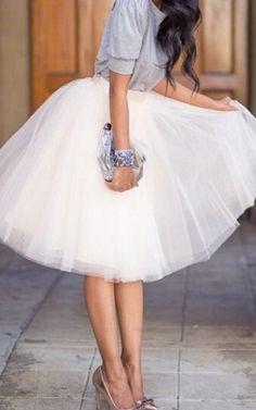 Gauzy Fluffy Layered Skirt