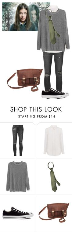 """""""Maddy Inspired //Wolfblood"""" by misscreepyashell ❤ liked on Polyvore featuring Ksubi, Walter Baker, MANGO, Converse and NOVICA"""