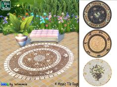 Mosaic Tile Rugs by Wimmie at Just For Your Sims via Sims 4 Updates #Sims4