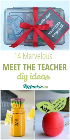 back to school teacher gifts Amazing DIY Meet the Teacher gift Ideas youll love to make tipjunkie Meet The Teacher, Back To School Teacher, Back To School Gifts, School Days, Homemade Teacher Gifts, Homemade Gifts, New Teacher Gifts, Craft Gifts, Diy Gifts