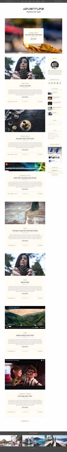 Adventure - Wordpress blog theme