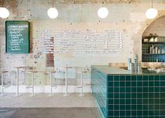 piccolina gelateria - Sandra Foti created the Piccolina Gelateria, a classic Italian-inspired restaurant in Melbourne, Australia. The restaurant serves traditional gel. Café Bar, Cafe Restaurant, Restaurant Design, Restaurant Interiors, Modern Restaurant, Café Bistro, Hecker Guthrie, Stone Archway, Ice Cream Parlor