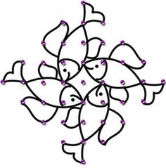 Rangoli Border Designs, Rangoli Designs With Dots, Beautiful Rangoli Designs, Kolam Designs, Mehndi Designs, Indian Rangoli, Kolam Rangoli, Flower Pattern Design, Flower Patterns