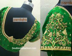 Maggam Work Blouse for Silk Sarees photo