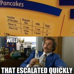 And how often do most people even make 14 pancakes? 7 is closer to average, right?!