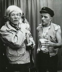 Andy Warhol and Joe Strummer