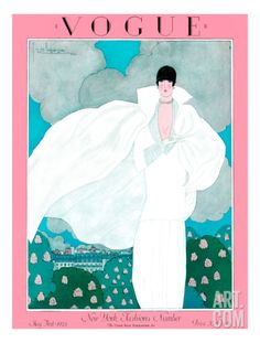 Vogue Cover - May 1925 Regular Giclee Print by Georges Lepape at Art.com