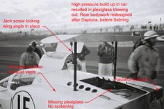 This photo shows the difference between the Daytona 2F and that raced afterwards. The Exoto 2F is not the Daytona 2F version, but a later season version with Daytona decals. The body shape is also wrong, with the sides too tall and the greenhouse too short. Shop elsewhere for accuracy. Dave Friedman photo.