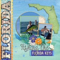 GingerScraps :: Bundled Goodies :: Best of Florida (collection) Cruise Scrapbook Pages, Beach Scrapbook Layouts, Vacation Scrapbook, Scrapbook Sketches, Scrapbook Albums, Scrapbook Cards, Scrapbooking Ideas, Kyoto Japan, Florida