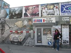 Berlin, Germany: East Side Gallery-near a cool gift shop.   A must see.