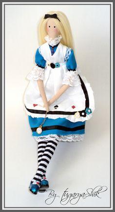 """Интерьерная кукла в стиле """"Тильда"""" - """"Алиса в стране чудес"""". - купить или…"""