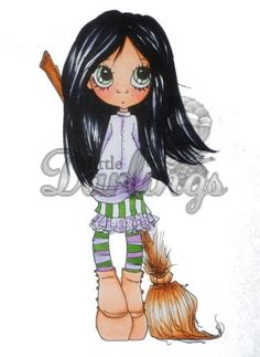"""Little Darlings/Saturated Canary Fairytales & Fables """"Elphie"""" Unmounted Rubber Stamp"""