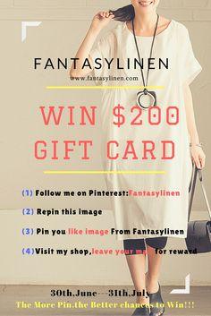 Win $200 Gift Card--Fantasylinen