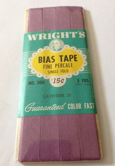 Vintage Cotton Percale Single Fold Bias Tape by NerdsNotions,