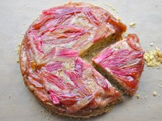 Rhubarb Upside Down Cake - fun for Valentine's Day