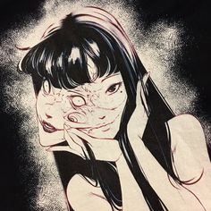 "Drawings welkiiin:""Tomie by - Japanese Horror, Japanese Art, Arte Horror, Horror Art, Aesthetic Art, Aesthetic Anime, Manga Art, Anime Art, Art Sketches"