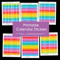 Printable Calendar / Planner Stickers - Rainbow Daily and Weekly Planner Add On - Agenda Organization - AllAboutTheHouse http://www.allaboutthehouseprintables.com.au/planners/printable-calendar-planner-stickers-rainbow-daily-and-weekly-planner-add-on-agenda-organization/ printable rainbow multi-coloured icon stickers money school events medical home maintenance miscellaneous numbers