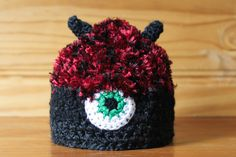 Monster Hat: MAX! | Available exclusively on Monster Hat Island! Check out all the one-of-a-kind crochet monster hats at monsterhatisland.com.