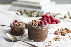 Chocolate Raspberry Mousse Recipe with Oatbox Granola