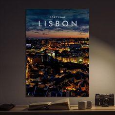 Metal Poster Lisbon Portugal