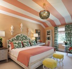 Wide stripes on ceiling.....