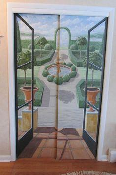 9 Great DIY Ways to Decorate Closet Doors: Painted Mural