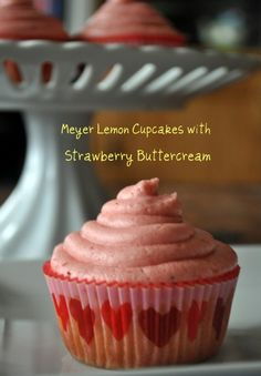 Would it be weird if I told you I wanted to take a bath in this strawberry buttercream? I'm not joking. I want to fill an entire bath tub and soak in the awesomeness that this frosting is. It's creamy, buttery, not overly rich, and it's chocked full of real strawberry flavor. The cupcakes aren't to
