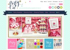 Custom website design for Party On Designs - http://www.partyondesigns.com/