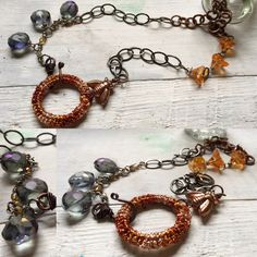New necklace on my Etsy site BeadPie.  I have named it Modern Bee Keeper.