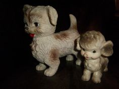 Vintage Toy Squeeze Dogs Edward Mobley Co