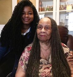 "8,055 Likes, 116 Comments - Loc Livin ™ (@loclivin) on Instagram: "" @rebbiecam ""My beautiful #Grandma, she's nearly 90❤ her hair is longer than mine #lovemynana…"""